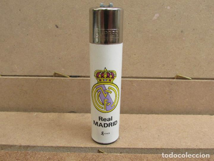 CLIPPER MECHERO ESCUDO REAL MADRID - ROSCA REDONDA (Coleccionismo - Objetos para Fumar - Mecheros)