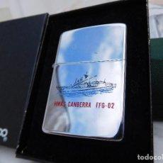 Mecheros: ZIPPO HMAS CANBERRA FFG 02 AÑO 1988 CON CAJA ORIGINAL E INSTRUCCIONES. Lote 167035020