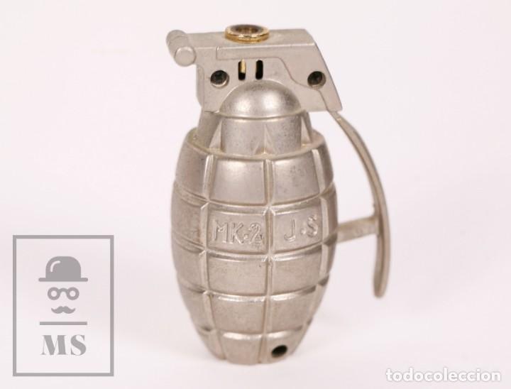 MECHERO SOPLETE CON FORMA DE GRANADA DE MANO - MK-2 J-S - MEDIDAS 5 X 3,5 X 7,5 CM (Coleccionismo - Objetos para Fumar - Mecheros)