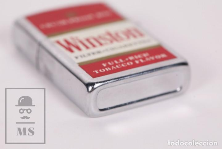 Mecheros: Mechero Publicitario Tipo Zippo - Cigarrillos Winston / Tabaco - Medidas 4 x 1 x 5,5 cm - Foto 3 - 168809836