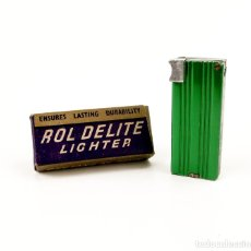 Mecheros: ROL DELITE LIGHTER - MECHERO DE GASOLINA ALUMINIO - EN CAJA, ESTADO EXCEPCIONAL. Lote 173263009