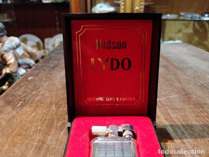 Mecheros: MECHERO / ENCENDEDOR HADSON LYDO GAS CON CAJA ORIGINAL, FUNCIONANDO - Foto 3 - 61968072