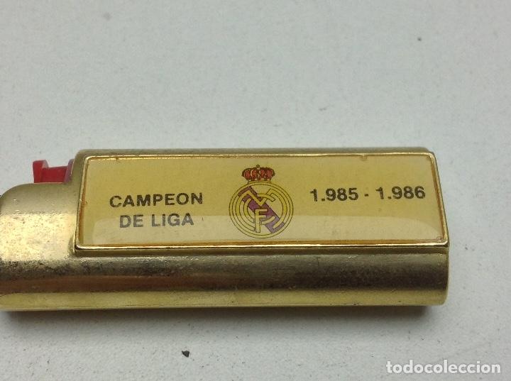 Mecheros: FUNDA MECHERO BIC - NO CLIPPER - FUTBOL REAL MADRID CAMPEON DE LIGA 85-86 - Foto 5 - 175585448