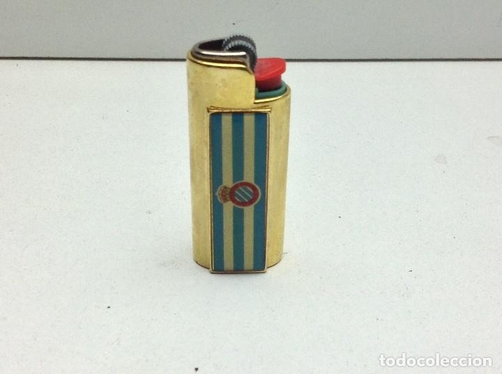 FUNDA MECHERO BIC - NO CLIPPER - FUTBOL REAL CLUB DEPOTIVO ESPAÑOL (Coleccionismo - Objetos para Fumar - Mecheros)