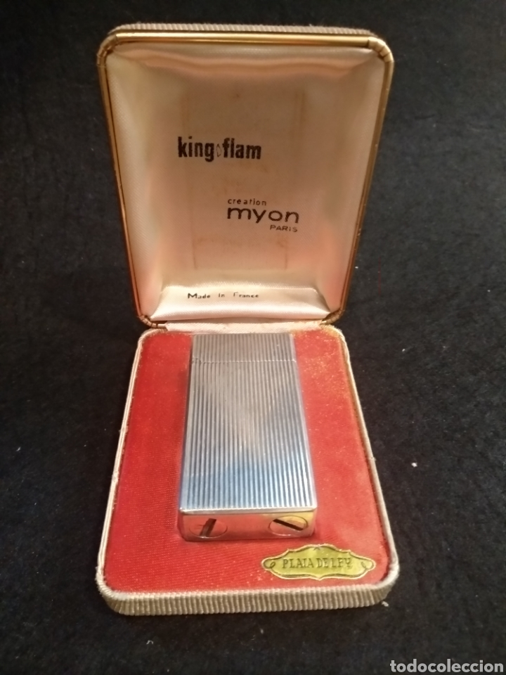 Mecheros: Encendedor mechero King Flam de plata, creation myon Paris - Foto 5 - 176925734