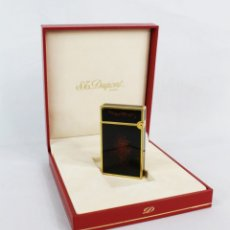 Mecheros: ST DUPONT LIGHTER IN CHINESE LACQUER - ENCENDEDOR MECHERO LACA CHINA CON ESTUCHE ORIGINAL - BAÑO ORO. Lote 177102868