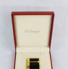 Mecheros: ST DUPONT LIGHTER IN CHINESE LACQUER - ENCENDEDOR MECHERO LACA CHINA CON ESTUCHE ORIGINAL - BAÑO ORO. Lote 177105912