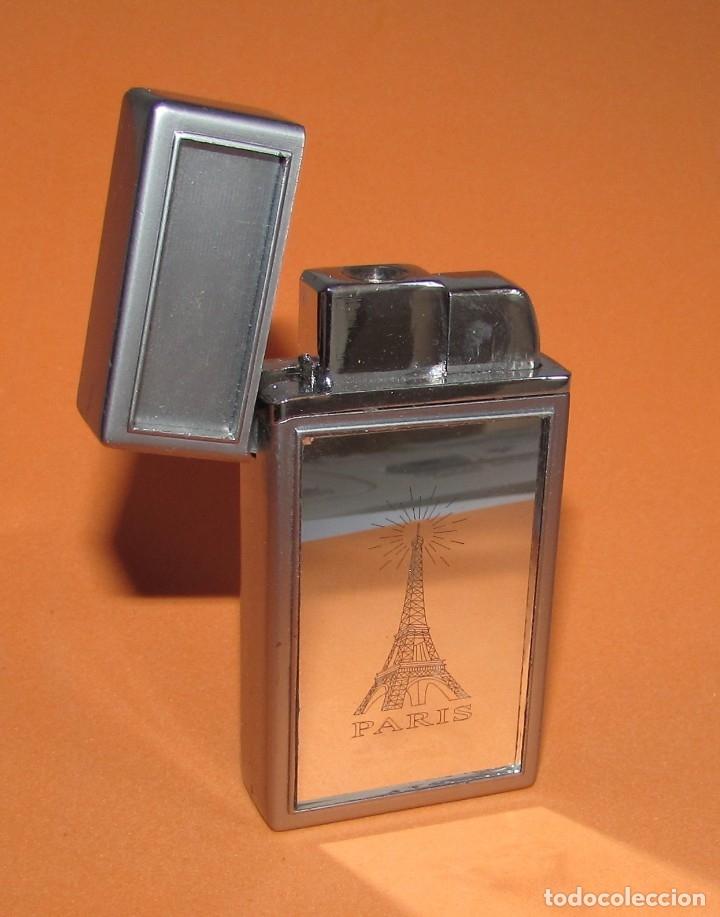 MECHERO ESPEJO PARIS - TIPO ZIPPO (Coleccionismo - Objetos para Fumar - Mecheros)