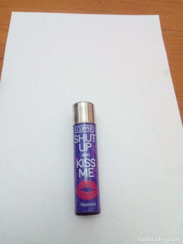 MECHERO CLIPPER. SHUT UP AND KISS ME. B7M (Coleccionismo - Objetos para Fumar - Mecheros)