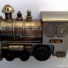 Mecheros: MECHERO A GAS OLD TRAIN (JS 1926) DE ACERO MACIZO (12CM. X 9CM.). Lote 179375465