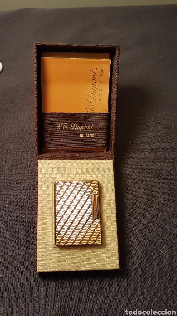 Mecheros: Mechero dupont oro 20 micras..1978 - Foto 2 - 180273245