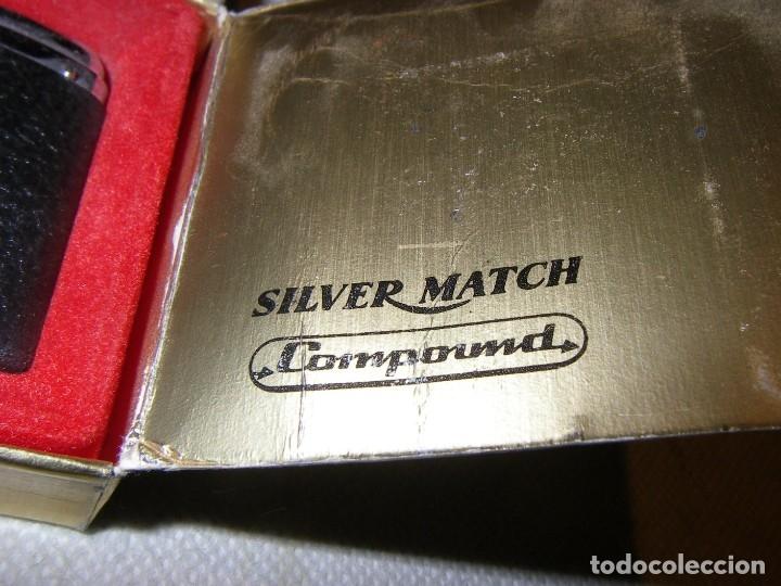 Mecheros: Mechero Silver Match con publicidad de Pegaso, nuevo, en caja original. - Foto 3 - 181317430
