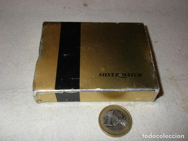 Mecheros: Mechero Silver Match con publicidad de Pegaso, nuevo, en caja original. - Foto 4 - 181317430