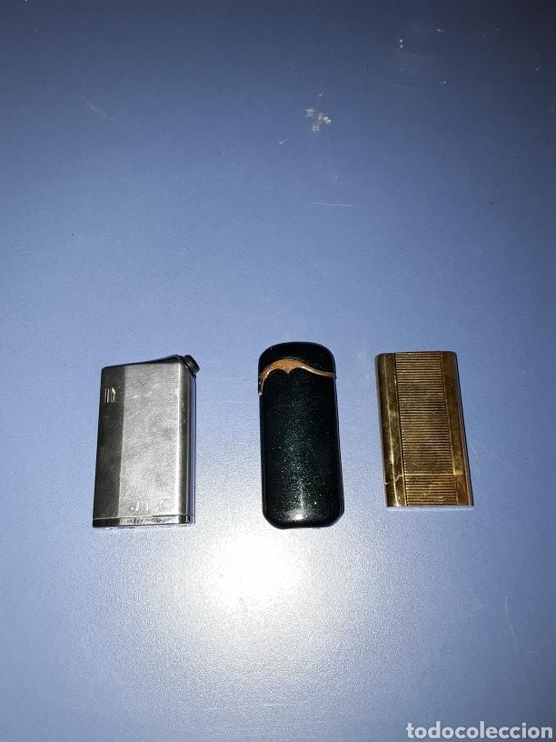 LOTE 3 MECHEROS VINTAGE (Coleccionismo - Objetos para Fumar - Mecheros)