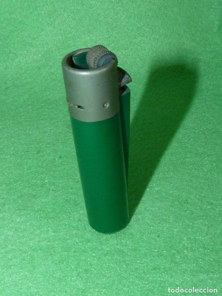 BUSCADO MECHERO CLIPPER REGULADOR VERDE OSCURO OPACO RASCADOR REDONDO ENCENDEDOR VINTAGE (Coleccionismo - Objetos para Fumar - Mecheros)