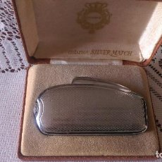 Accendini: AB-865.- MECHERO.- CREACION SILVER MATCH, FRANCE , CON CAJA ORIGINAL , VER BOMBONA DE GAS . Lote 189947503