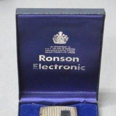 Mecheros: MECHERO RONSON DE PLATA. ELECTRONIC. Lote 191168802