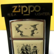 Mecheros: MECHERO ZIPPO (ORIGINAL): BARCO - FARO (BRADFORD, PA, MADE IN USA).. Lote 191937436