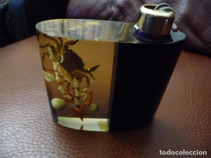 REGULABLE - STICK FEUDOR Nº 3 - GRANATE. EN SOPORTE SOBREMESA VINTAGE BICHITOS MAR (Coleccionismo - Objetos para Fumar - Mecheros)