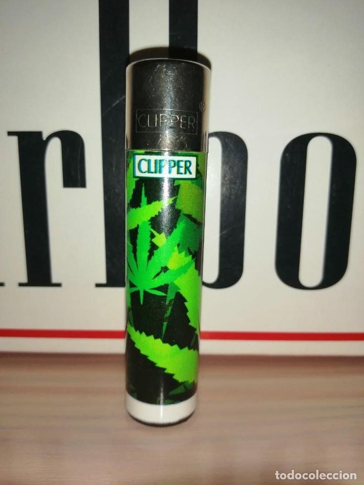 CLIPPER HOJA MARIHUANA (Coleccionismo - Objetos para Fumar - Mecheros)