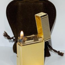 Mecheros: S.T. DUPONT ENCENDEDOR / BRIQUET / LIGHTER. PLAQUÉ / GOLD PLATED. '60/70S. FUNCIONANDO.. Lote 195332630