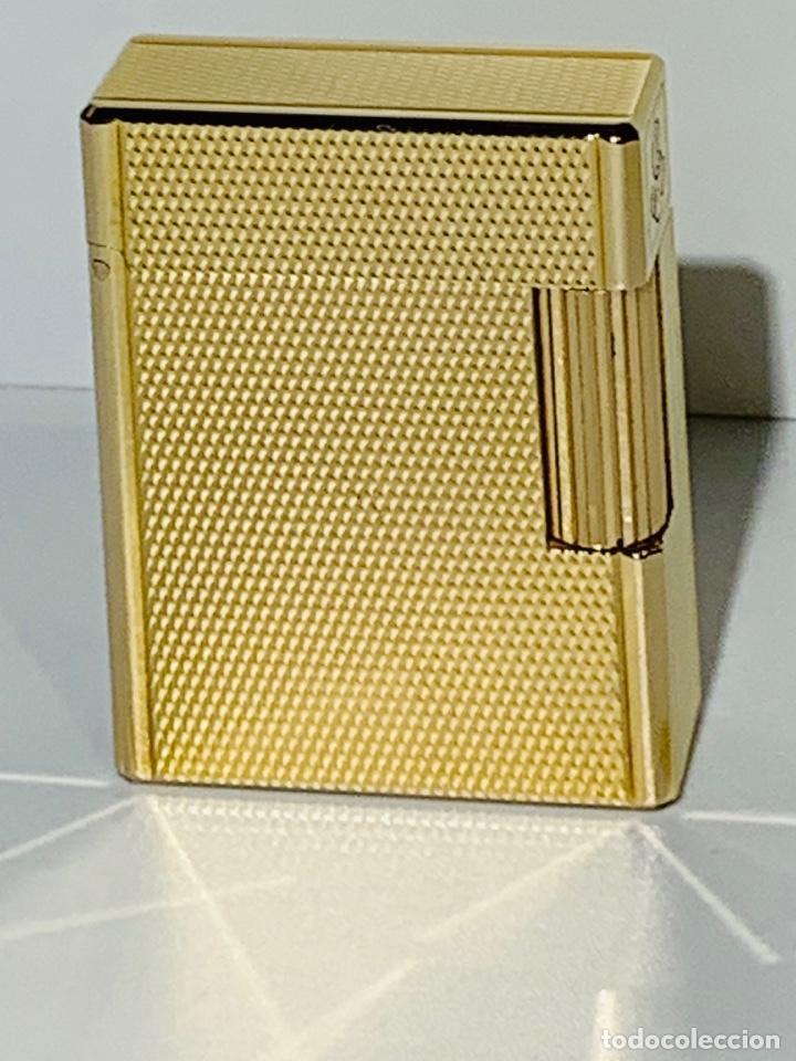 Mecheros: S.T. DuPont Encendedor / Briquet / Lighter. Plaqué / Gold Plated. '60/70s. Funcionando. - Foto 2 - 195332630