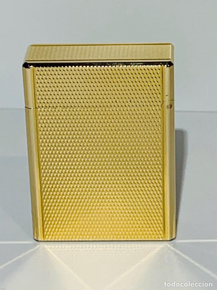 Mecheros: S.T. DuPont Encendedor / Briquet / Lighter. Plaqué / Gold Plated. '60/70s. Funcionando. - Foto 4 - 195332630