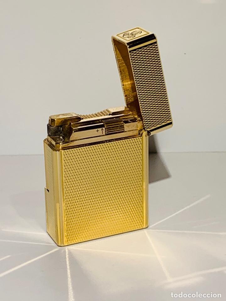 Mecheros: S.T. DuPont Encendedor / Briquet / Lighter. Plaqué / Gold Plated. '60/70s. Funcionando. - Foto 6 - 195332630