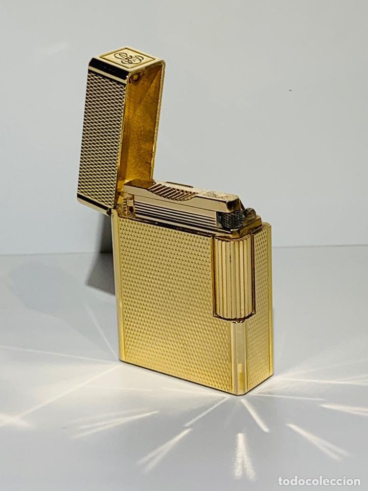 Mecheros: S.T. DuPont Encendedor / Briquet / Lighter. Plaqué / Gold Plated. '60/70s. Funcionando. - Foto 7 - 195332630