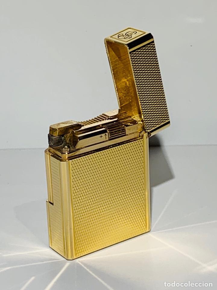 Mecheros: S.T. DuPont Encendedor / Briquet / Lighter. Plaqué / Gold Plated. '60/70s. Funcionando. - Foto 9 - 195332630
