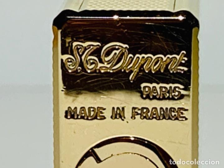 Mecheros: S.T. DuPont Encendedor / Briquet / Lighter. Plaqué / Gold Plated. '60/70s. Funcionando. - Foto 12 - 195332630
