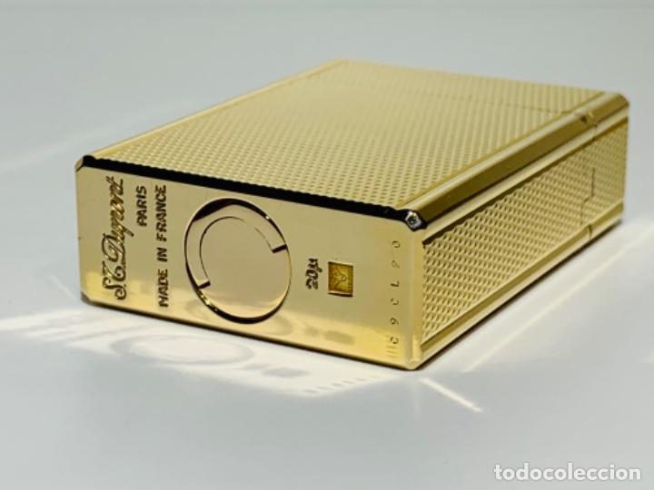 Mecheros: S.T. DuPont Encendedor / Briquet / Lighter. Plaqué / Gold Plated. '60/70s. Funcionando. - Foto 15 - 195332630