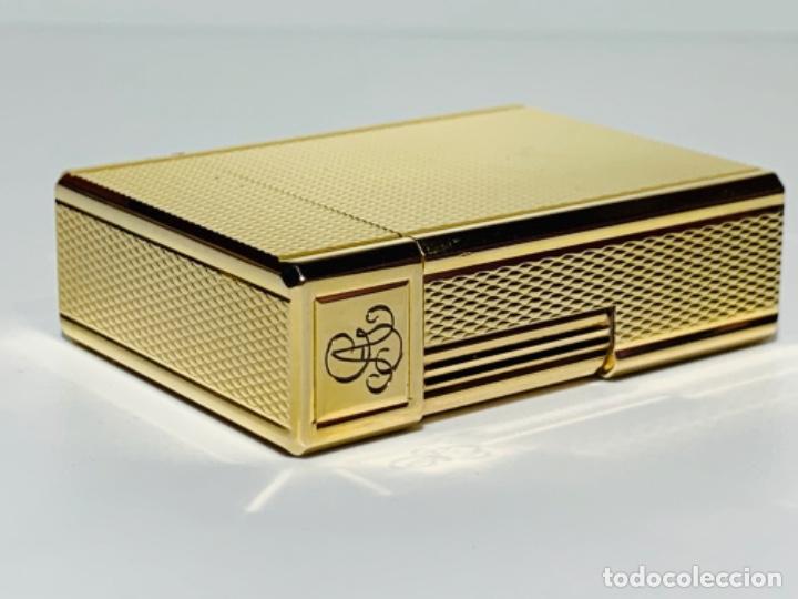Mecheros: S.T. DuPont Encendedor / Briquet / Lighter. Plaqué / Gold Plated. '60/70s. Funcionando. - Foto 16 - 195332630