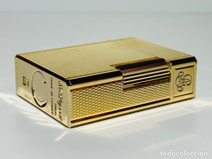Mecheros: S.T. DuPont Encendedor / Briquet / Lighter. Plaqué / Gold Plated. '60/70s. Funcionando. - Foto 18 - 195332630