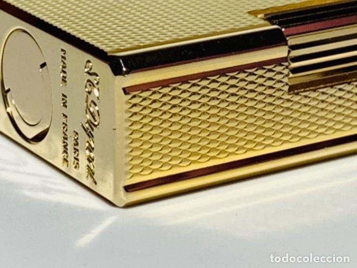 Mecheros: S.T. DuPont Encendedor / Briquet / Lighter. Plaqué / Gold Plated. '60/70s. Funcionando. - Foto 19 - 195332630
