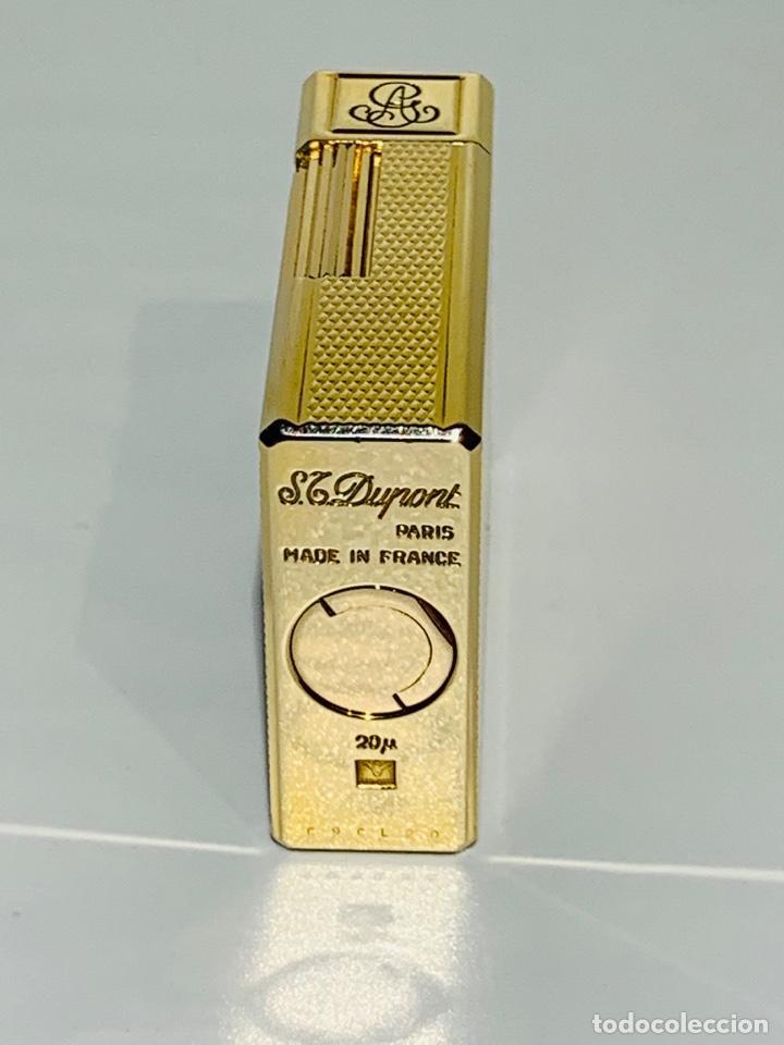Mecheros: S.T. DuPont Encendedor / Briquet / Lighter. Plaqué / Gold Plated. '60/70s. Funcionando. - Foto 21 - 195332630