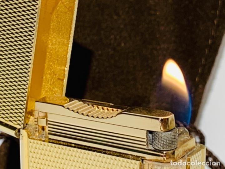 Mecheros: S.T. DuPont Encendedor / Briquet / Lighter. Plaqué / Gold Plated. '60/70s. Funcionando. - Foto 22 - 195332630