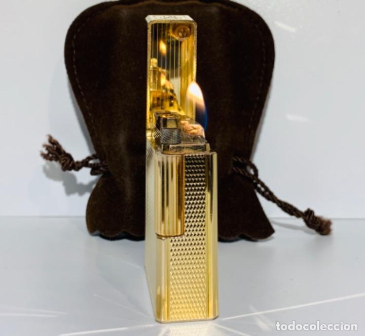 Mecheros: S.T. DuPont Encendedor / Briquet / Lighter. Plaqué / Gold Plated. '60/70s. Funcionando. - Foto 23 - 195332630