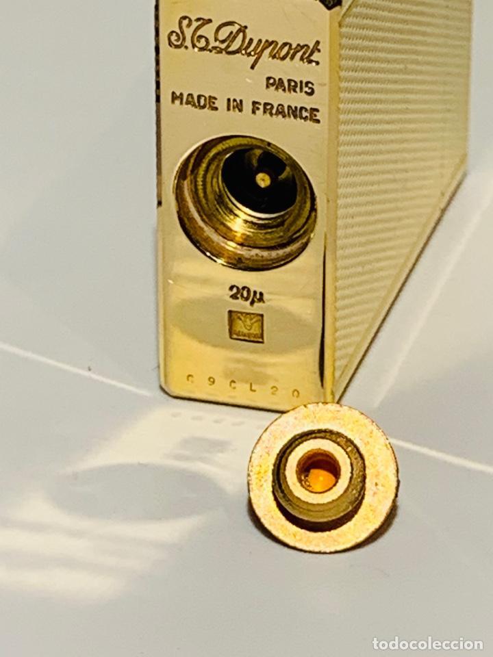 Mecheros: S.T. DuPont Encendedor / Briquet / Lighter. Plaqué / Gold Plated. '60/70s. Funcionando. - Foto 27 - 195332630