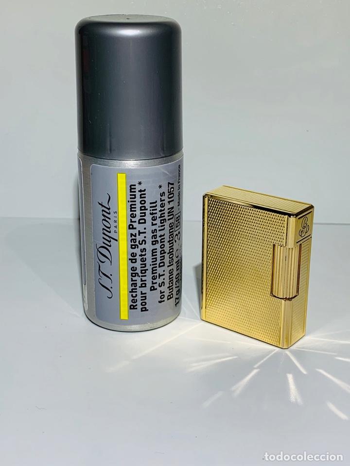 Mecheros: S.T. DuPont Encendedor / Briquet / Lighter. Plaqué / Gold Plated. '60/70s. Funcionando. - Foto 28 - 195332630