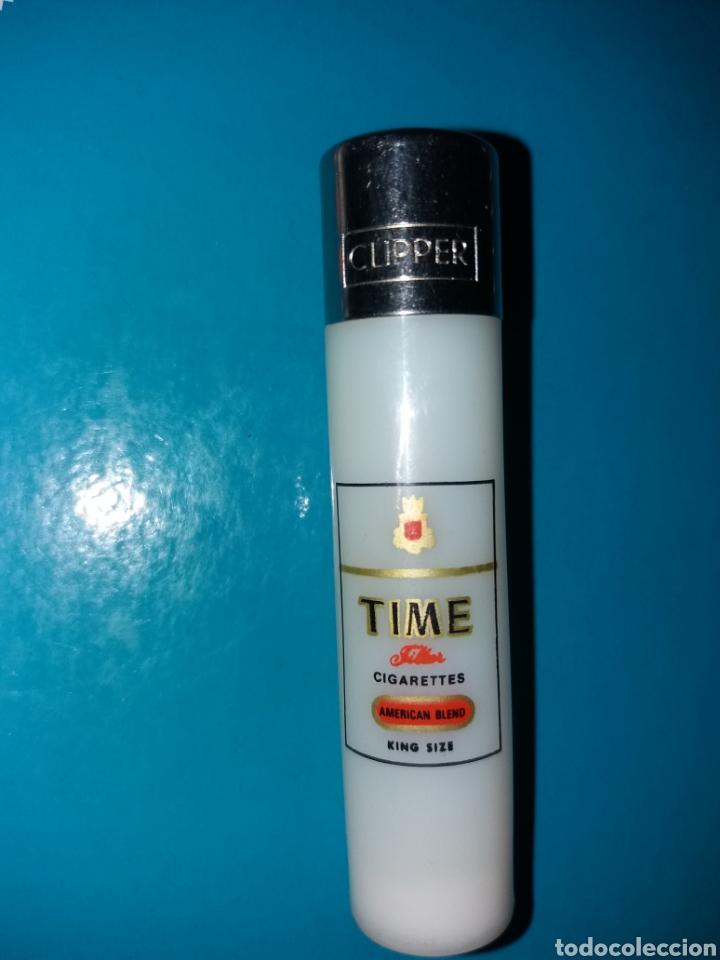 RARO MECHERO CLIPPER ANTIGUO CIGARRETS TIME (Coleccionismo - Objetos para Fumar - Mecheros)