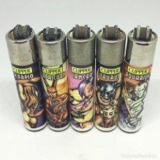 Briquets: SERIE DE 5 CLIPPER HOROSCOPO CLIPPERS - ACCENDINO - LIGHTER - BRIQUET - MADE IN SPAIN. Lote 197149020