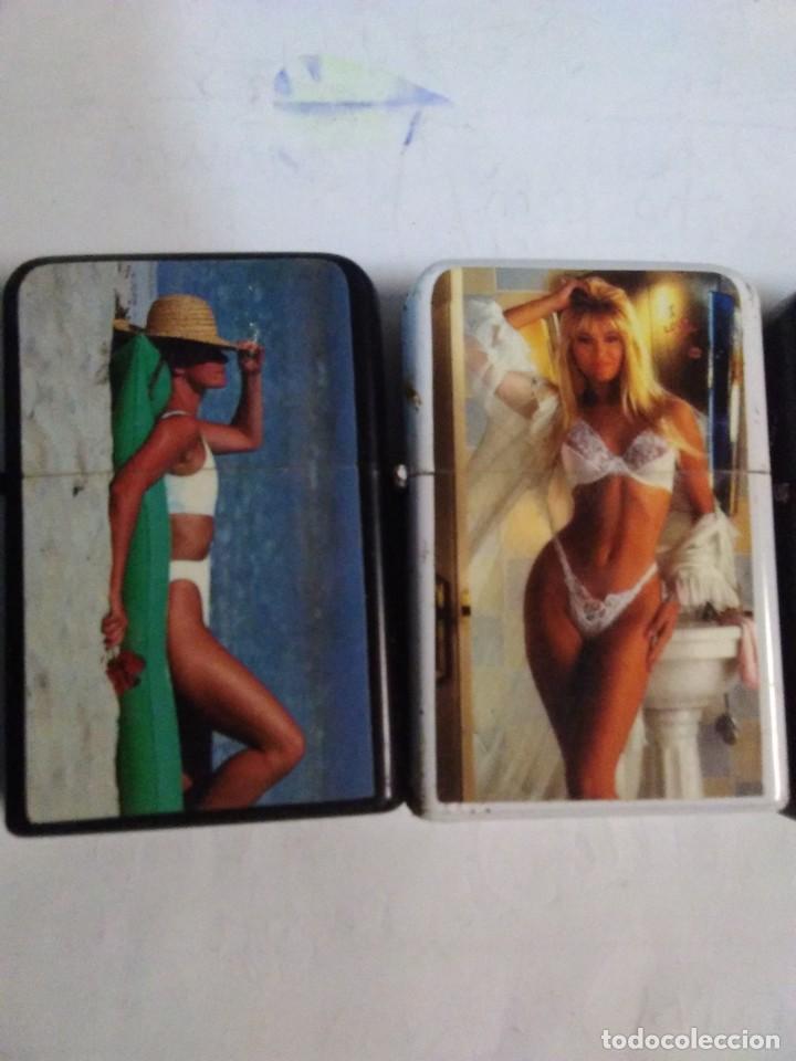 Mecheros: coleccionables 5 Encendedores tipo Zippo. Años 80. Mujer sexy. Mechero.funcionan - Foto 2 - 204277086