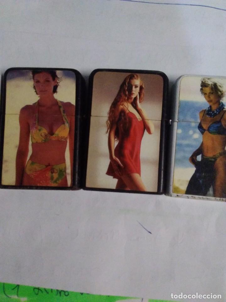 Mecheros: coleccionables 5 Encendedores tipo Zippo. Años 80. Mujer sexy. Mechero.funcionan - Foto 3 - 204277086
