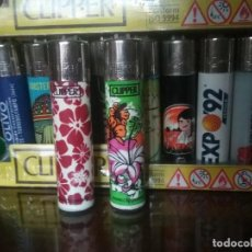 Mecheros: MECHERO/ENCENDEDOR CLIPPER LIGHTER. DOS BONITOS CLIPPER DE FLORES.. Lote 204611666