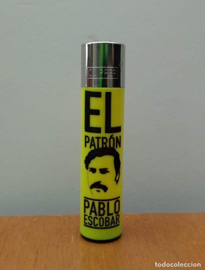 MECHERO CLIPPER - ENCENDEDOR - LIGHTER - COLECCIÓN - PABLO ESCOBAR - EL PATRÓN (Coleccionismo - Objetos para Fumar - Mecheros)