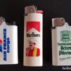 Mecheros: LOTE 3 MECHEROS AIR FRANCE, MARLBORO Y DAB PILSENER. Lote 213234377