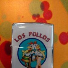 Mecheros: MECHERO ESTILO ZIPPO LOS POLLOS HERMANOS, BREAKING BAD, POPLAND. Lote 214279436