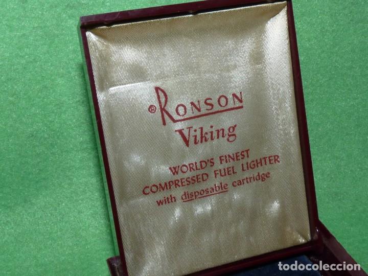 Mecheros: Elegante encendedor RONSON VIKING mechero vintage años 50 caja funda original colección - Foto 5 - 214577935