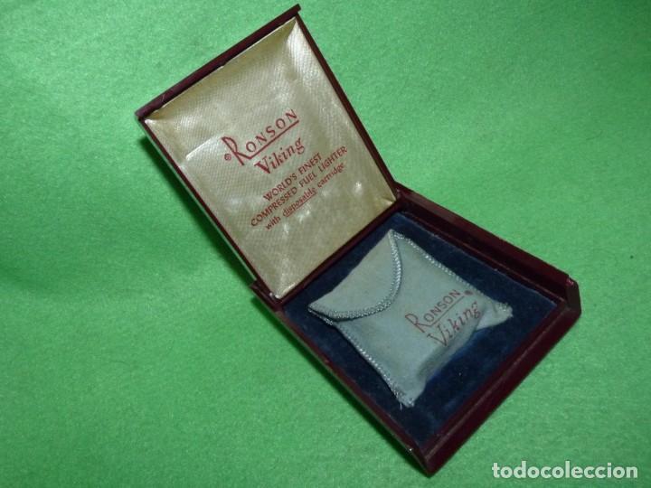 Mecheros: Elegante encendedor RONSON VIKING mechero vintage años 50 caja funda original colección - Foto 13 - 214577935